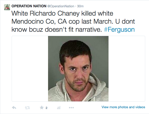 Killed white Mendocino County cop Ricky Del Fiorentino march 19, 2014.