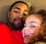 Mr. Christian Griggs with daughter Jayden.